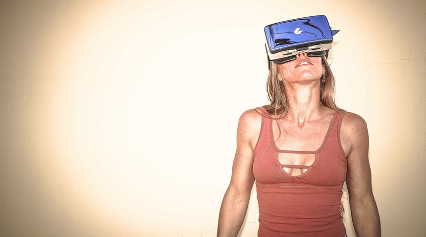 vr woman high up - VR Gambling Technology - Is This the Future?